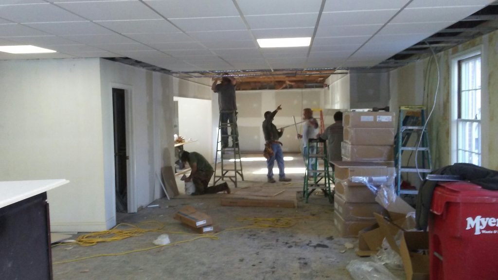 Acoustical Ceiling Installation