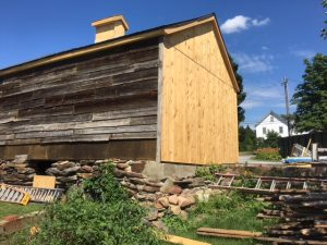 Back view of a barn restored by Protech Contracting in Vermont