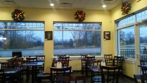 Interior of a restaurant where Protech did a fit up for a commercial client.
